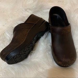 Dansko Clogs Weathered Brown Professional Shoes